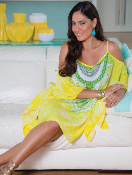 My Darling Jeannie - Twist of Lemon Silk Kaftan
