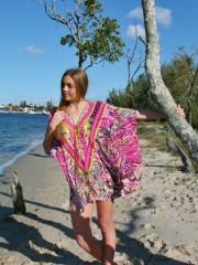 My Darling Jeannie - Tea Party Lace-up Silk Kaftan