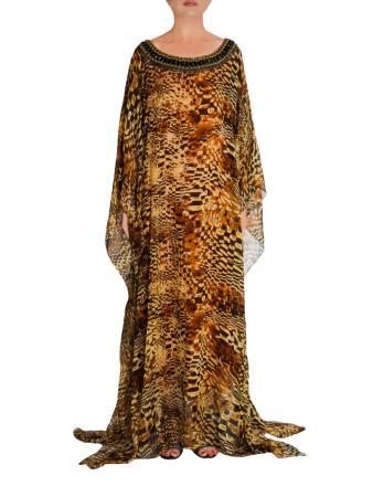 Bronze Beauty Silk Gown front